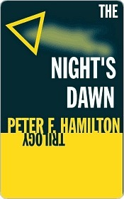 """The Night's Dawn Trilogy"" cover."
