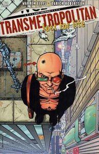 """Transmetropolitan"" cover."