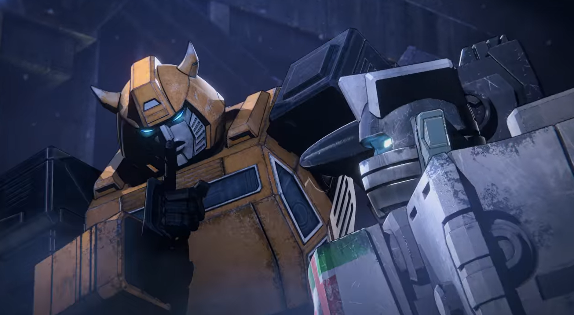Bumblebee and Wheeljack from episode 1 of
